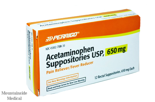 acetaminophen suppository